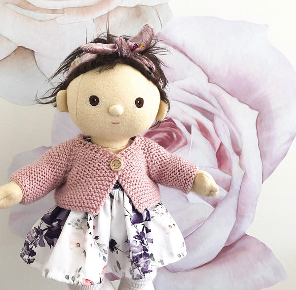 Ready to ship // Knit V Neck Cardigan (38cm Miniland, Dinkum Doll & Minikane)