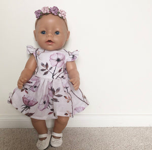 Made to order // Baby Born 43cm: Eadie Dress (Available in multiple different fabrics)