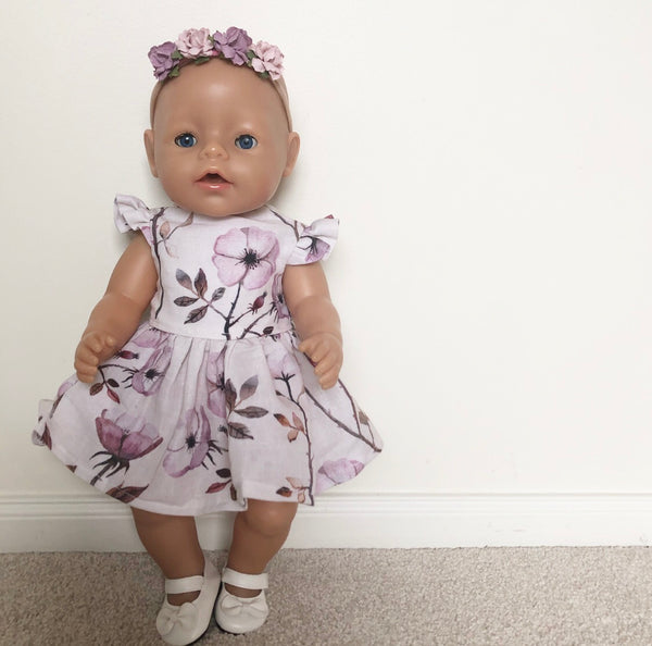 Baby Born 43cm: Eadie Dress (Available in multiple different fabrics)