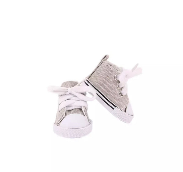 Frankie doll shoes: Grey (to fit 21cm Miniland)