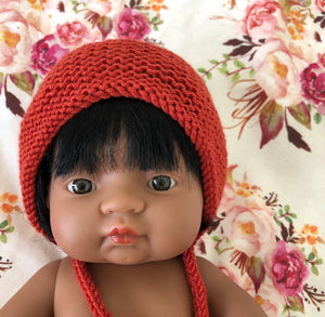 Ready to ship // Knit Basic Bonnets (38/40cm Miniland Dolls)