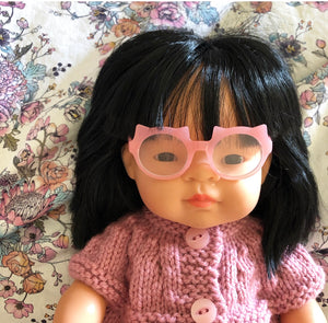 Pink 'Cat': Doll Glasses