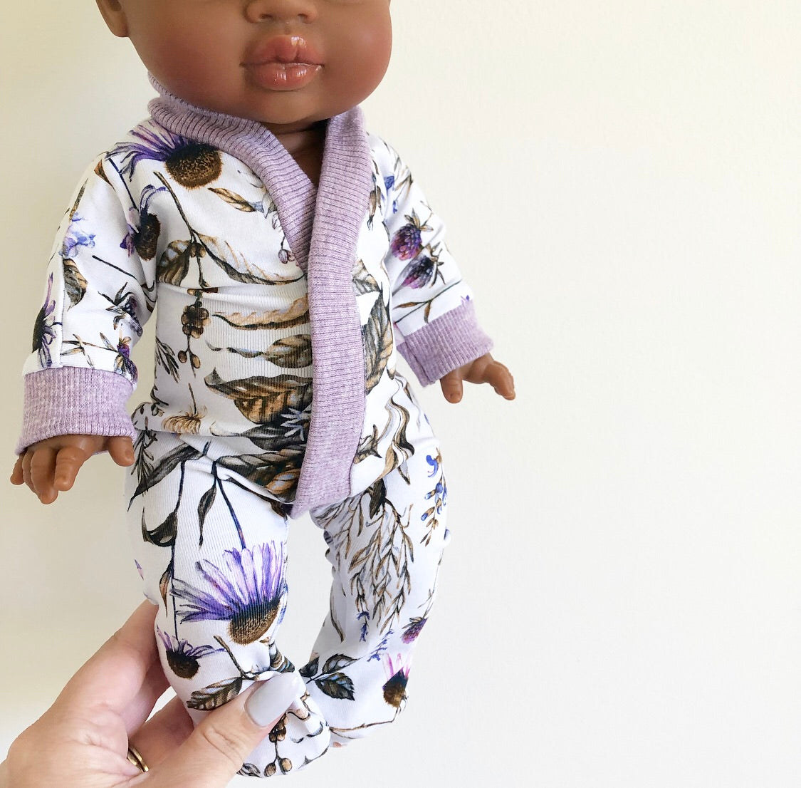 Ready to ship // Dolly Sleepsuit: To fit 38cm Miniland & Minikane/Paola Reina (Available in multiple fabrics)