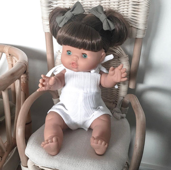 Ready to ship // Sky Romper: White (to fit 38cm Miniland & PR/Minikane)