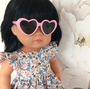 Pink: Dolls Heart Sunglasses