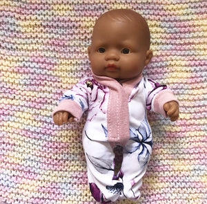 Ready to ship // Dolly Sleepsuit: To fit 21cm Miniland (Available in multiple fabrics)