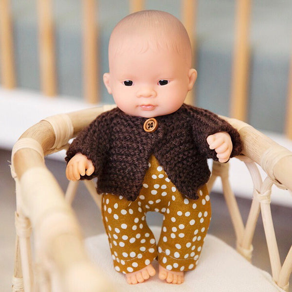Ready to ship // Remi 'Boyish' Knit Jumper & pants Set: 21cm Miniland (Available in multiple options)