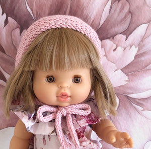 ON SALE Ready to ship // Knit Basic Bonnets (38/40cm Miniland & Paola Reina Doll)