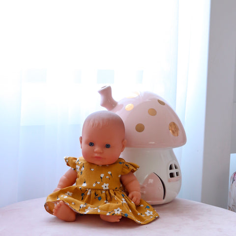 Eadie Dress: 21cm Miniland Doll  (Available in multiple different fabrics)