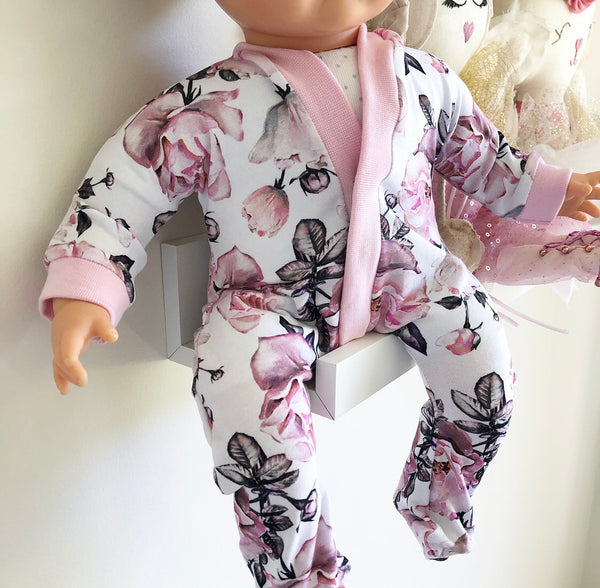 Ready to ship // Dolly Sleepsuit: To fit 40cm Soft Bodied Miniland (Available in multiple fabrics)