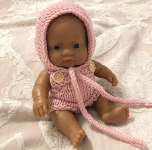 Ready to ship // Knit Basic Romper (21cm Miniland Doll)