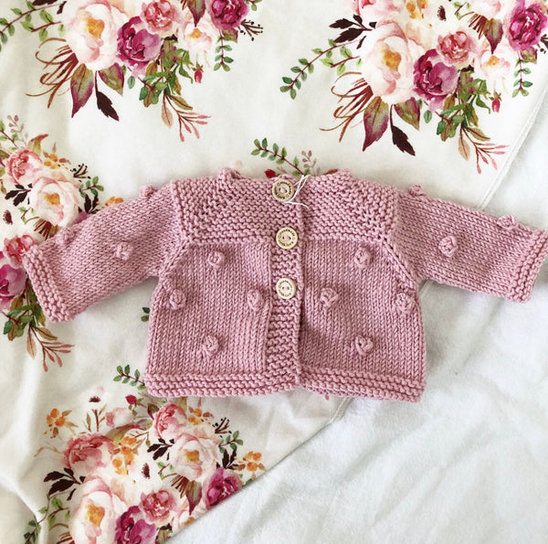 Made to order // Knit Popcorn Cardigan (40cm Soft Bodied Miniland)