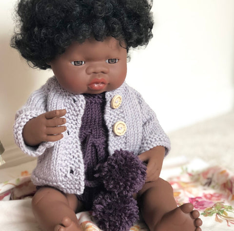 ON SALE Ready to ship // Knit Basic Cardigan (38cm Miniland Doll & Dinkum Doll)