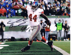 ahmad bradshaw new york giants signed 8x10, marshall football