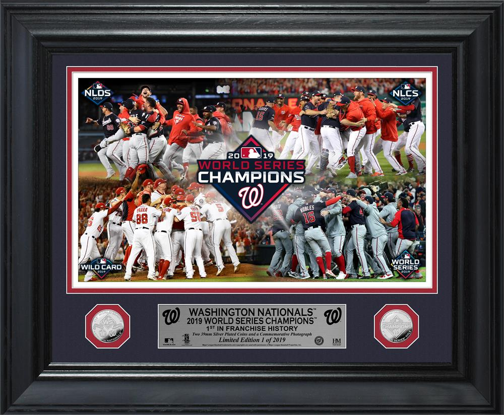 Washington Nationals 2019 World Series Champions Celebration Deluxe Silver Coin Photo Mint