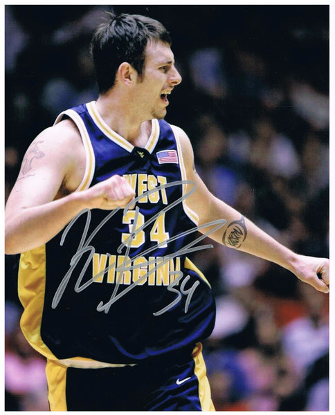 Kevin Pittsnogle West Virginia Mountaineer Basketball Signed 8x10