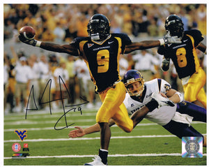 wvu football, pac man autograph, adam jones autograph