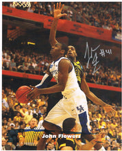 wvu basketball, joe flowers autograph