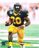 Amos Zereoue West Virginia Mountaineers Signed 8x10 Photo