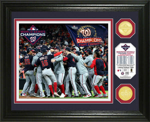 Washington Nationals 2019 World Series Champions Champions Celebration Bronze Coin Photo Mint
