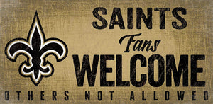 New Orleans Saints Fans Welcome Wood Sign