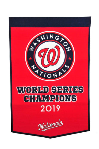 Washington Nationals Dynasty World Champions Wool Banners