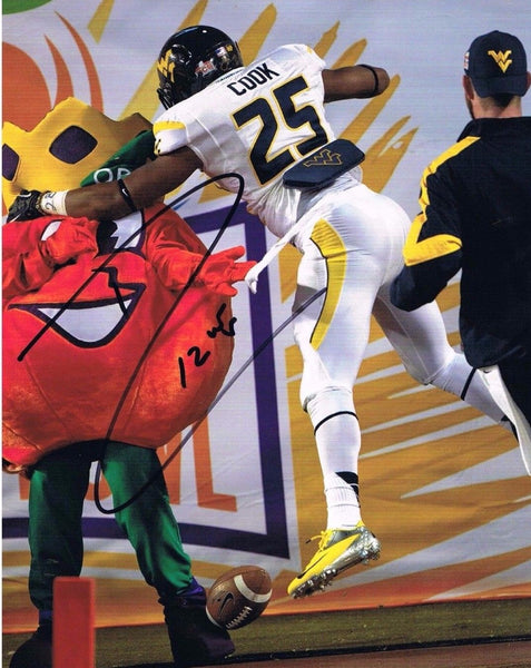 Darwin Cook West Virginia Mountaineers Signed 8x10 Photo 2012 Orange Bowl Champs