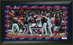 Washington Nationals 2019 World Series Champions Champions Celebration Signature Field