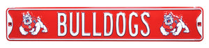 Fresno State Bulldogs Metal Street Sign