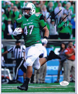 devon johnson marshall thundering herd autograph