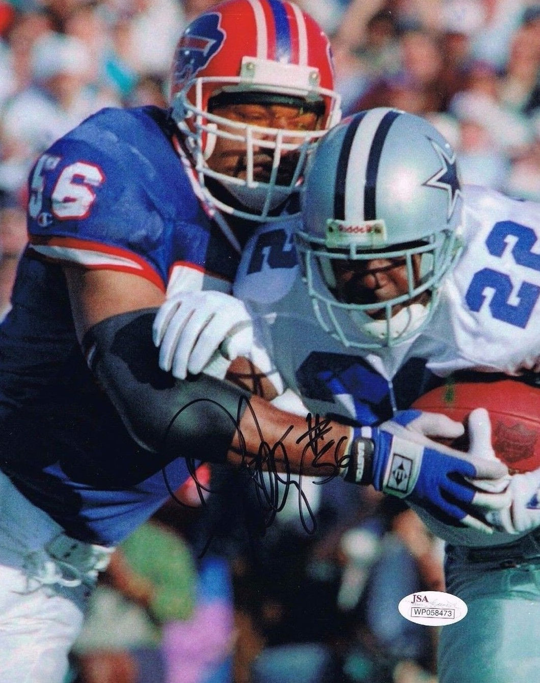 buffalo bills, wvu football, darryl talley autograph