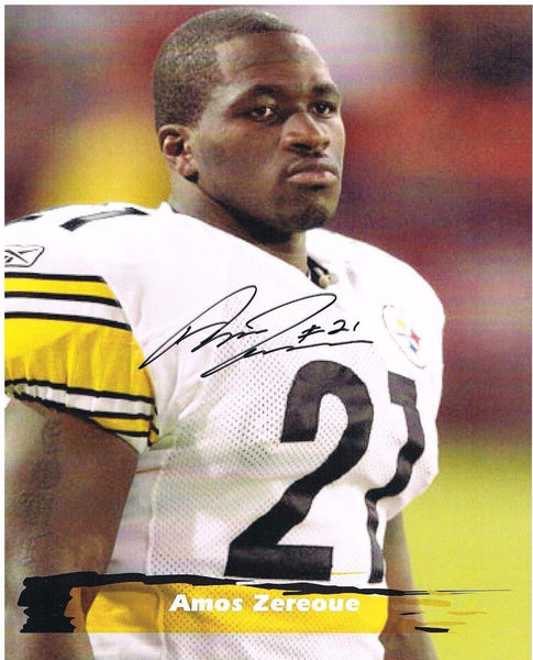 Amos Zereoue Pittsburgh Steelers Signed 8x10 Photo