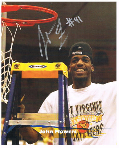 John Flowers West Virginia Mountaineer Basketball Signed 8x10
