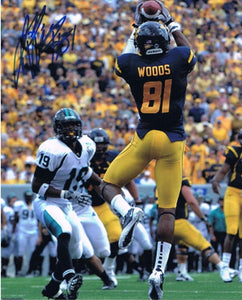 wvu football, jd woods autograph