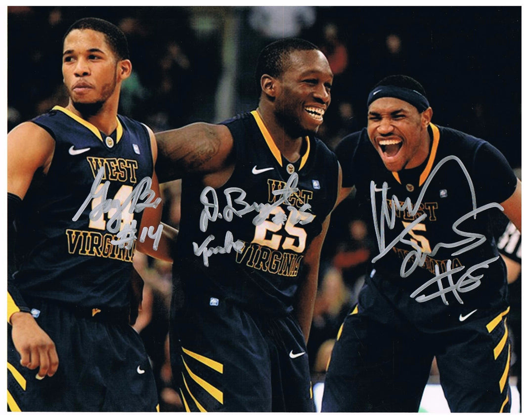 wvu basketball, kevin jones autograph, truck bryant autograph, gary browne autograph, press virginia