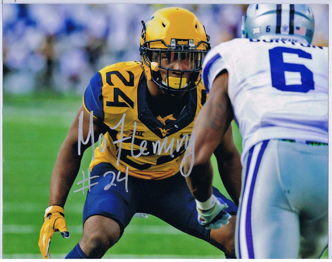 wvu football, maurice fleming autograph