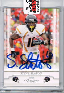 Steve Slaton WVU 2008 Prestige Signed Football Card