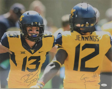 David Sills V & Gary Jennings West Virginia Mountaineers Dual Signed 16x20 Photo