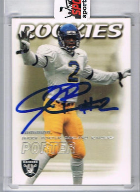 Jerry Porter 2000 Skybox Football Signed Rookie Card