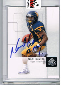Noel Devine 2011 Upper Deck Signed Rookie Card
