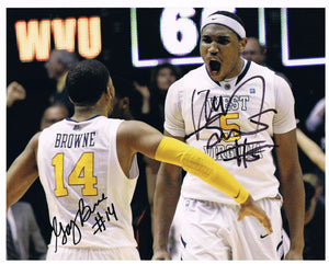 wvu basketball, kevin jones autograph, gary browne autograph