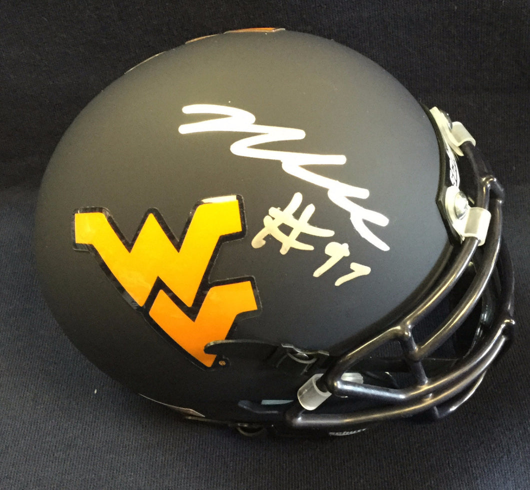wvu football, noble nwachukwu autograph