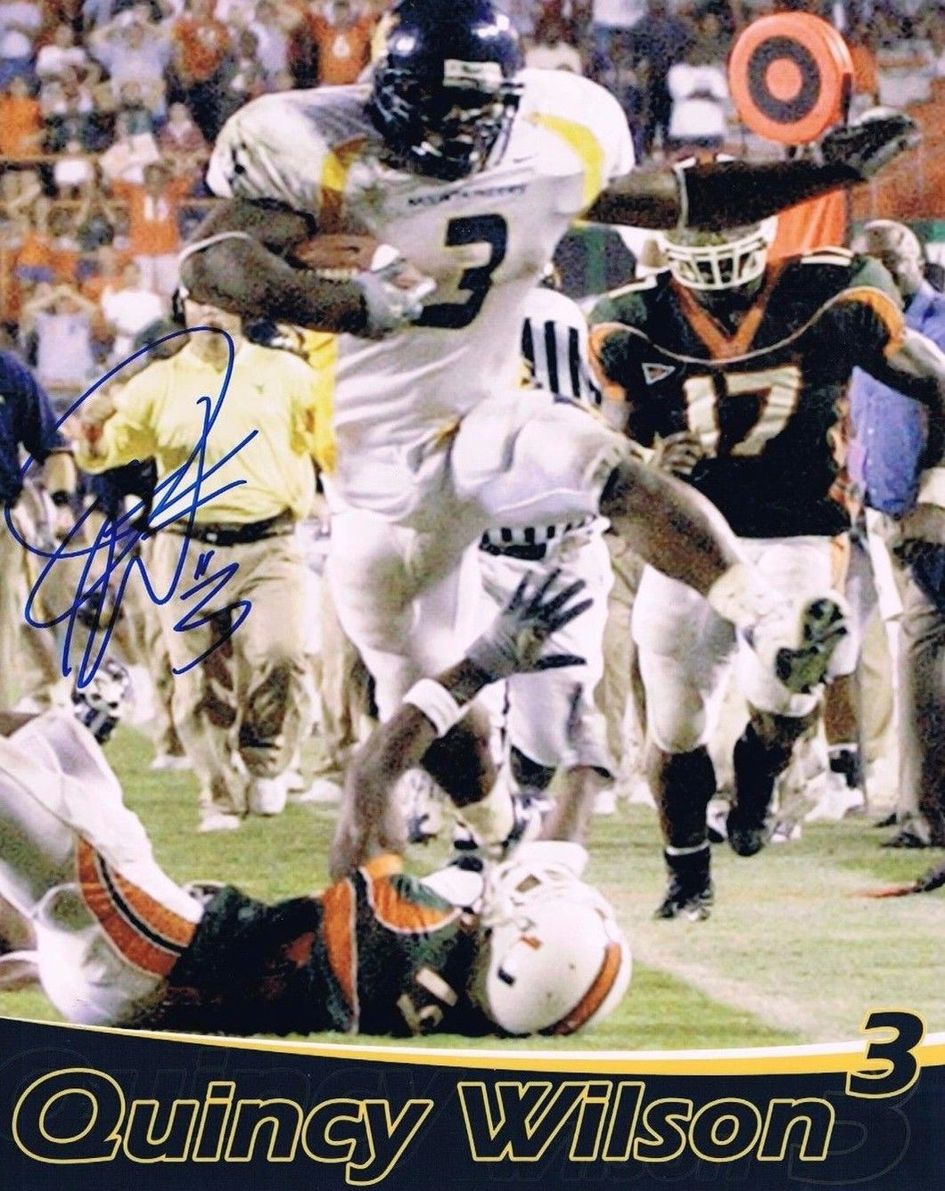 wvu football, quincy wilson autograph, the run