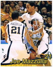 wvu basketball, joe mazzulla autograph
