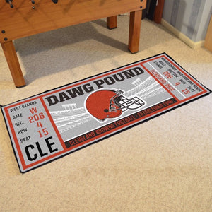 Cleveland Browns Football Ticket Runner