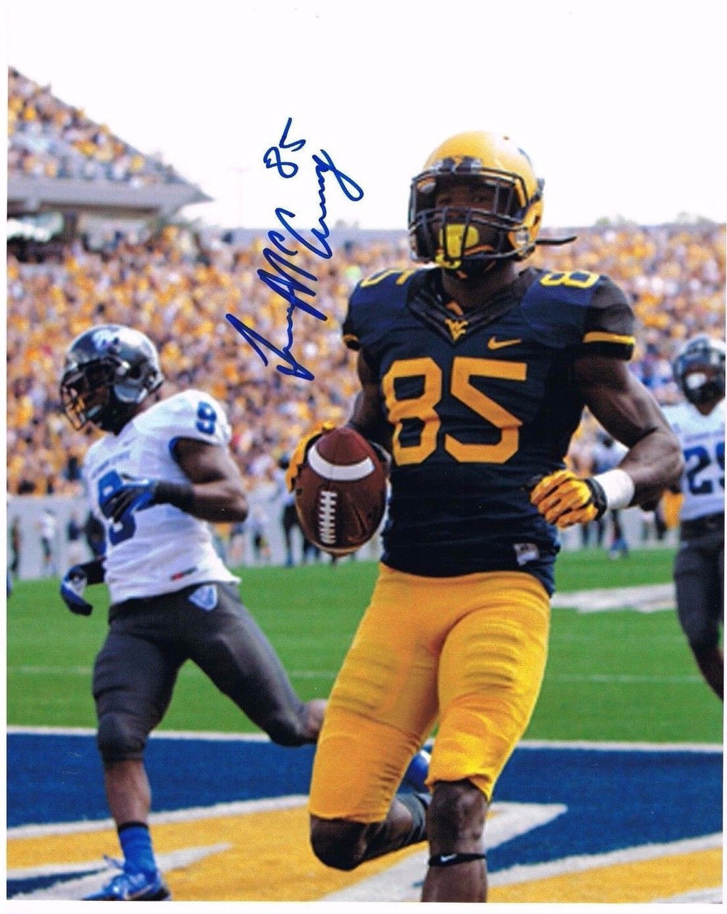 wvu football, ivan mccartney autograph
