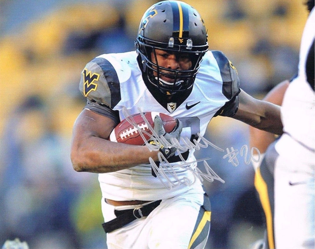 wvu football, shawne alston autograph