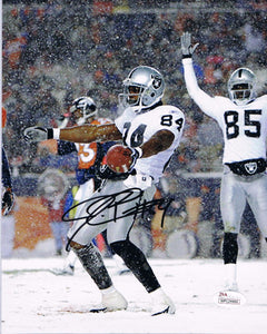 wvu football, oakland raiders, jerry porter autograph