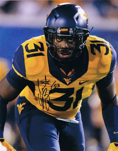 Isaiah Bruce West Virginia Mountaineers Signed 8x10 Photo