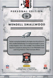 Wendell Smallwood Philadelphia Eagles 2016 Panini Personal Edition Signed Rookie Card